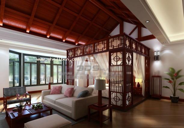 中式卧室吊顶