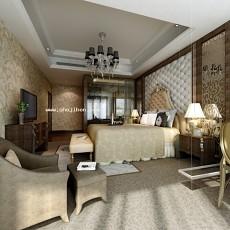 卧室0253d模型下载