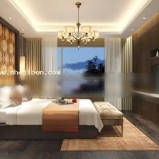卧室0243d模型下载