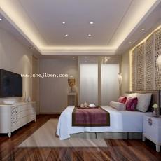 卧室1583d模型下载