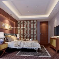 卧室1573d模型下载