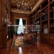 书房1893d模型下载