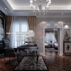书房天花板3d模型下载