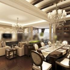 客厅餐厅开放式3d模型下载