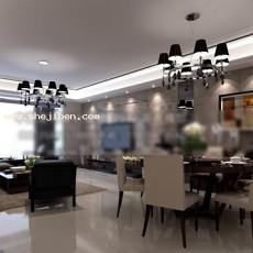 客餐厅3d模型下载
