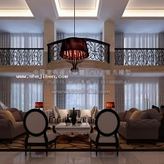 别墅建客厅3d模型下载