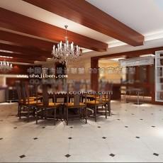 中式风格餐厅3d模型下载