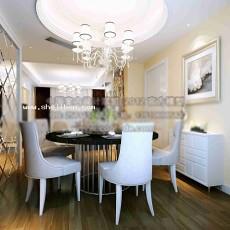 家居餐厅3d模型下载