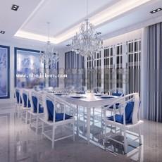 现代餐厅3d模型下载