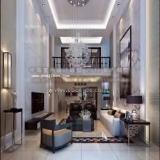 两层楼房客厅3d模型下载