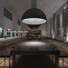 餐厅1373d模型下载