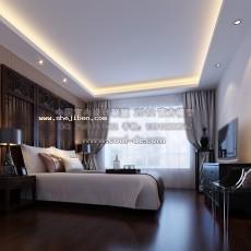卧室3423d模型下载