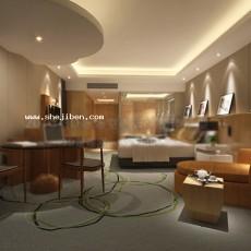 酒店客房3d模型下载