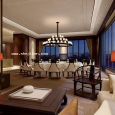 酒店包间3d模型下载