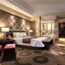 宾馆客房3d模型下载