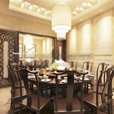 中式餐厅中包房3d模型下载