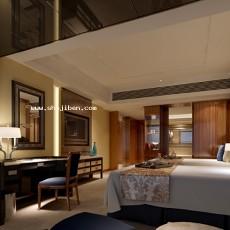 酒店标间3d模型下载