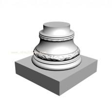 柱子3d模型下载