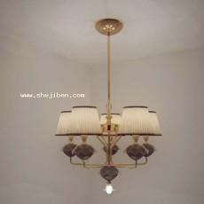 客厅欧式吊灯3d模型下载