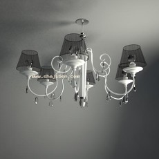 现代吊灯3d模型下载