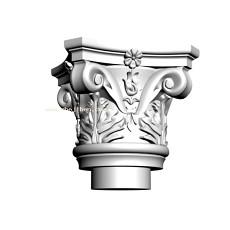 大气的欧式柱头3d模型下载