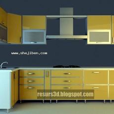 整体橱柜3d模型下载