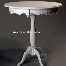 雕花桌子3d模型下载