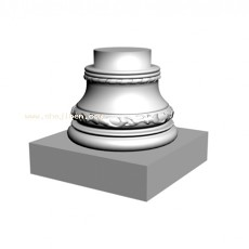 罗马柱3d模型下载