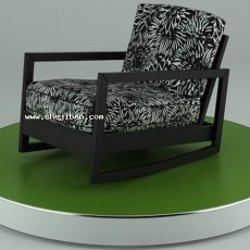 现代扶手椅子3d模型下载