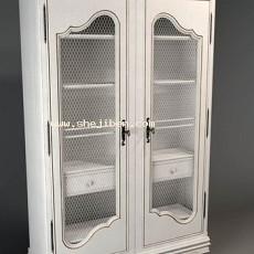 欧式酒柜3d模型下载
