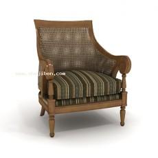 扶手椅子3d模型下载