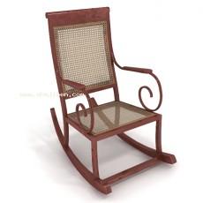 扶手摇椅3d模型下载