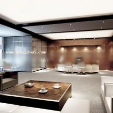 室内办公室3d模型下载