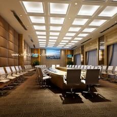 大会议室天花板3d模型下载