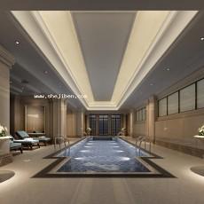 游泳池3d模型下载