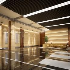 办公大厅3d模型下载