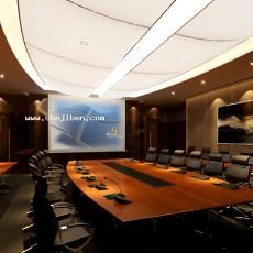 会议室会议台3d模型下载
