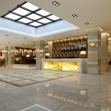 宾馆大堂设计3d模型下载
