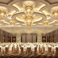 欧式餐厅吊顶3d模型下载