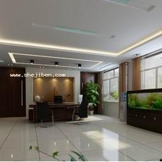 现代办公室3d模型下载