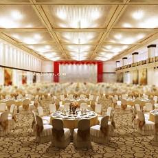 欧式宴会厅吊顶3d模型下载