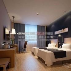 客房床3d模型下载