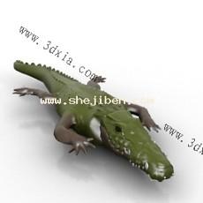 卡通鳄鱼3d模型下载