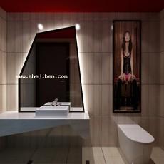 卫生间镜前灯3d模型下载