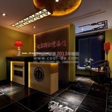 中式大堂3d模型下载