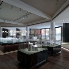 售楼中心展示柜3d模型下载