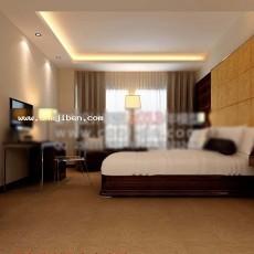 酒店客房天花板3d模型下载