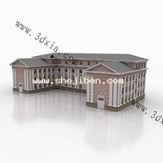 宿舍楼3d模型下载