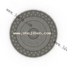 欧式构件-圆花3d模型下载