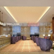 酒吧大厅服务台3d模型下载